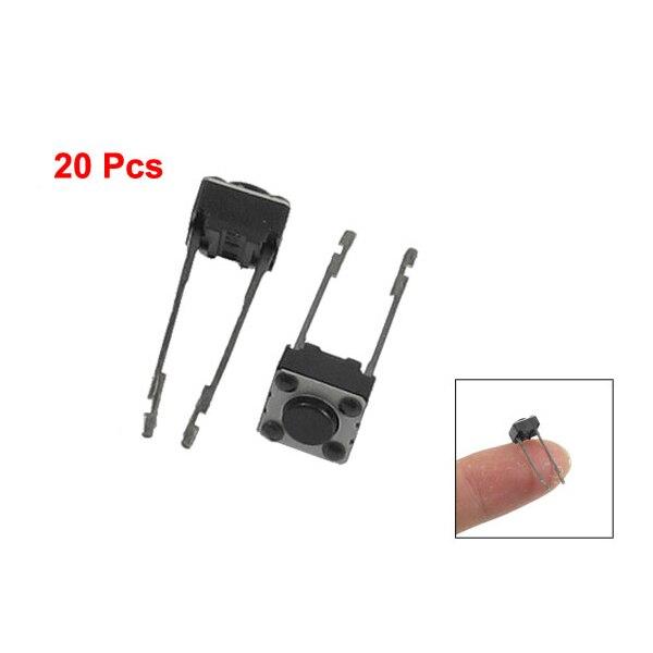 WSFS Hot 20 Pcs 6x6x4mm Momentary Tactile Push Button Switch 2 Pin DIP Through