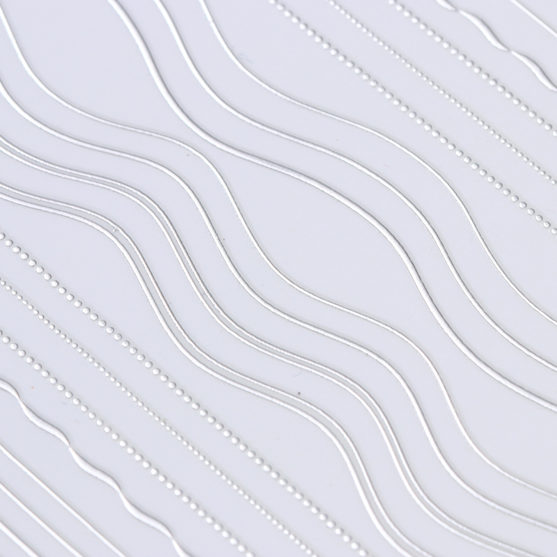 Image 4 - 1 лист золотых и серебряных линий, 3D наклейки для ногтей, многоразмерные металлические наклейки, переводные наклейки, маникюрные украшения для ногтей-in Стикеры и наклейки from Красота и здоровье on AliExpress