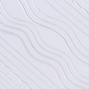 Image 4 - 1 Sheet Gold Silver Lines Strip 3D Nail Sticker Multi size Metal Tips Adhesive Transfer Sticker  Nail Art Decorations