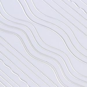 Image 4 - 1 arkusz złoto srebrne linie taśmy 3D naklejka do paznokci wielkoformatowe metalowe końcówki naklejki samoprzylepne naklejki do paznokci dekoracje artystyczne