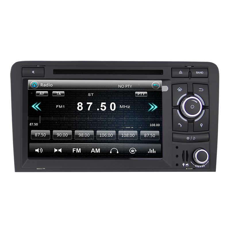 車ラジオアウディ A3 2002-2011 2din マルチメディア dvd プレーヤー gps ナビゲーションステレオタッチスクリーンアウディ 8 1080P A3 S3 RS3 Autoradio