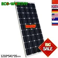 2018 USA Stock 100 W Monocrystalline Solar Panel for 12V Battery RV Boat , Car, Home Solar Power &Free Shipping