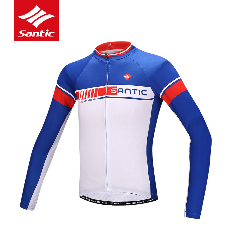Santic Cycling Jersey Men Long Sleeve 2018 MTB Road Bike Bicycle Clothes Breathable Quick Dry Cycling Clothing Ropa Ciclismo spakct men cycling clothing quick dry racing bike jersey bicycle cycle clothes ropa ciclismo cycling jersey page 1