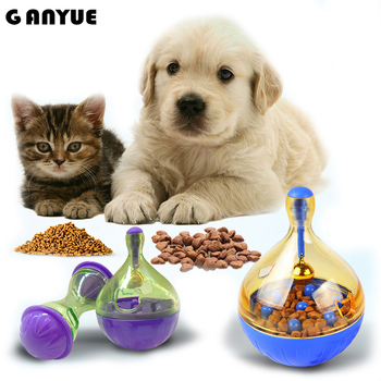 Ganyue Tumbler Cat Dogs Toys Food Hide Ball Toys Puppy Kitten Interactive Ball Dog Puzzle Toys Shaking Food Leakage Toys Feeder