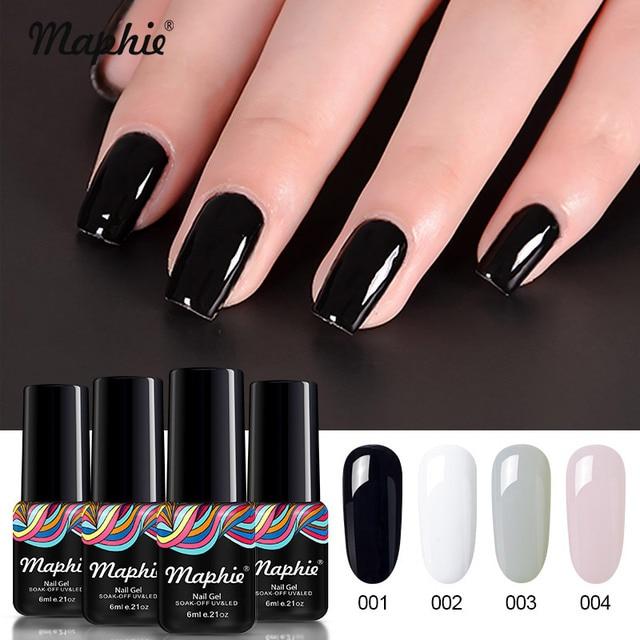 Maphie 4Pcs/Lot Gel Nail Polish Set DIY Nail Design Salon UV Nail ...