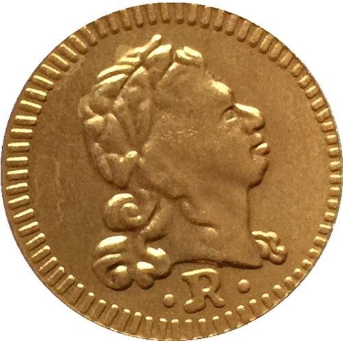 1734 Бразилия 400 Reis Монеты Скопируйте Бесплатная доставка