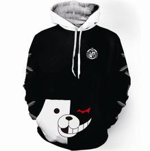 Anime Danganronpa V3: Killing Harmony Cosplay Monokuma Costumes Hoodies Unisex Adult Clothing
