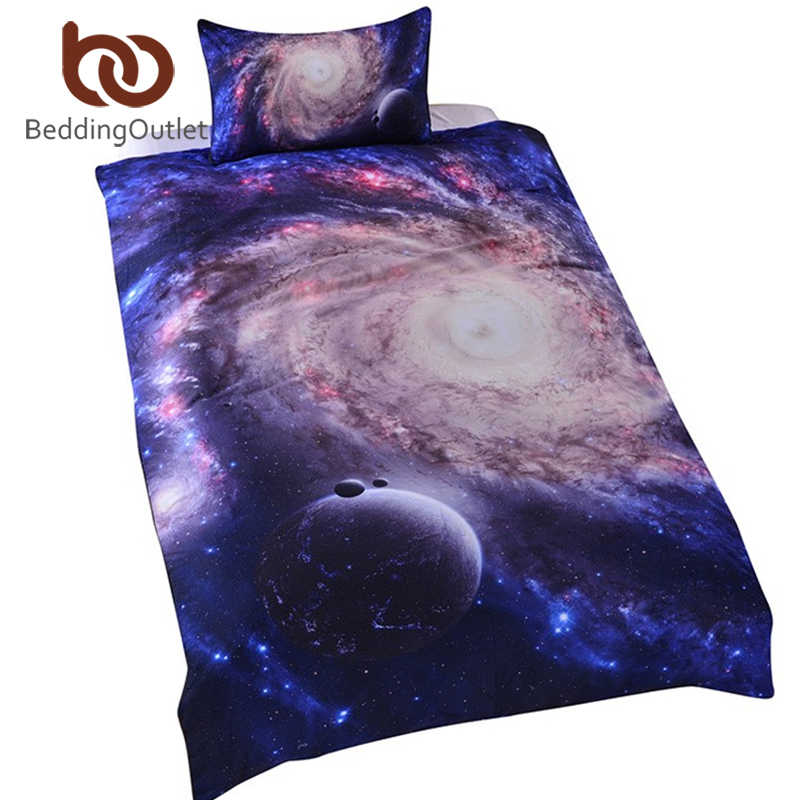 BeddingOutlet Amazing Galaxy Bed Set Bedding Set Queen Size 3d Close to Galaxy Quilt Cover Set Universe Bedspread Bedclothes