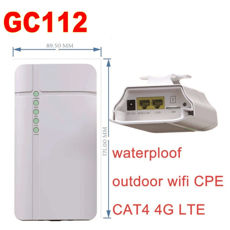 4G CPE Lte Wireless industrial outdoor waterproof wifi Router GC112