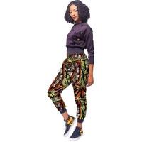 African Women Trousers Fashion Print Haren Pants Ladies Bright Design Dashiki Jogger Pants Customized Africa Cropped Pants
