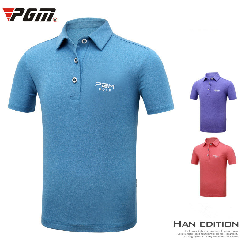 2018 Pgm Boys Polo Shirt Summer Kids Breathable T Shirt Children Short Sleeved Quick Dry Tops School Sport Clothes D0362 mens outdoor sport breathable quick dry tees casual short sleeve t shirt summer polo shirt