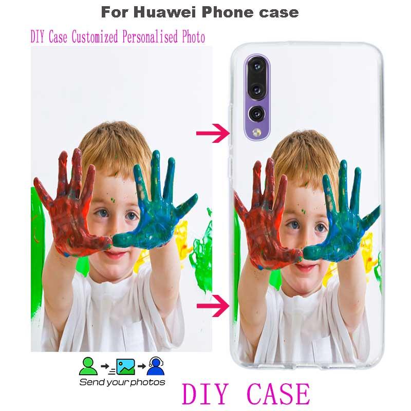 Уникальный персонализированные Индивидуальные DIY прозрачные мягкие чехлы для телефона из ТПУ для Huawei Honor Mate P20 P10 P9 10 9 8 7X 7A 7C Pro 6X Lite