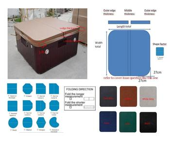 Customized hot tub spa cover vinyl leather skin only ,2200mmx2200mm 2350mmx 2350mm can produce any size as request