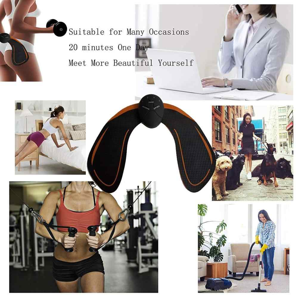 חכם EMS ירכיים מאמן חשמלי ממריץ שרירים אלחוטי ישבן בטן ABS ממריץ כושר גוף הרזיה לעיסוי
