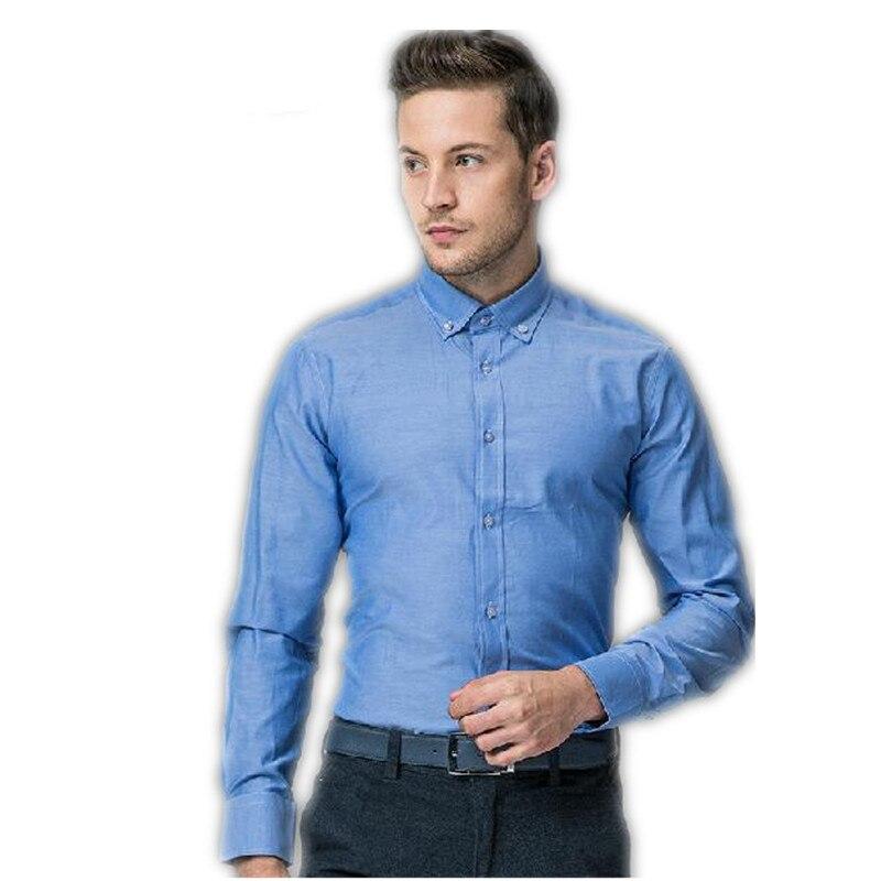 Fashion man's shirt Business Shirts new style blue man's ...