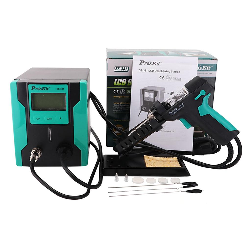 Pro sKit SS 331H 90W Anti Static LCD Digital Electric Vacuum Desoldering Pump Solder Sucker Gun