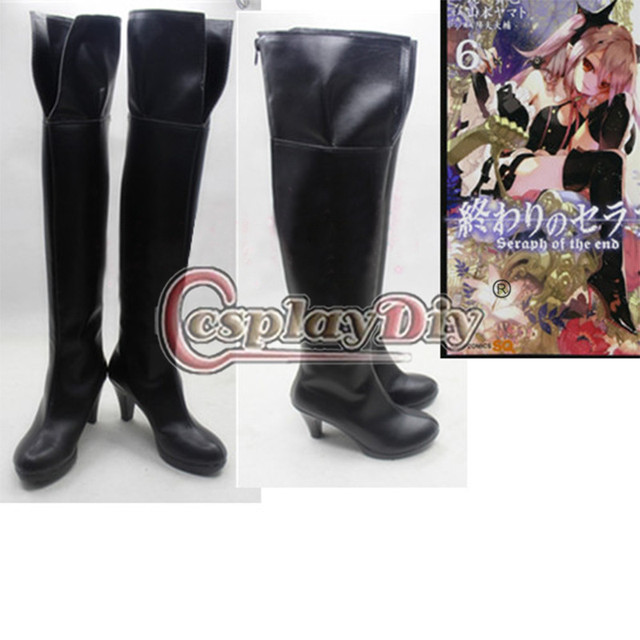 Cosplaydiy Seraph of the End Krul Tepes Cosplay Shoes Adult Halloween Anime  Boots Custom Made D0627