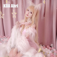 [Pre sale] Anime! Hot Game LOL KDA Ahri the Nine Tailed Fox Illustration Magazine Style Sexy Dress Cosplay Costume Free Shipping