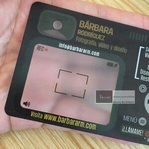 Image 2 - תפור לפי מידה PVC פלסטיק ברור/כפור PVC שקוף כרטיס ביקור הדפסה עם משלוח חינם