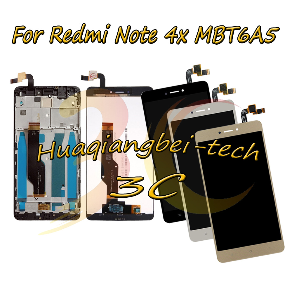 For Xiaomi Redmi Note 4X MBT6A5 LCD DIsplay Touch Screen Digitizer Assembly + Frame Redmi note 4 Global Version Snapdragon 625