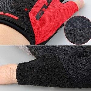 Image 5 - قفازات GUB 2099 لركوب الدراجات نصف الأصابع ، قفازات رياضية للخارج مقاومة للصدمات ، مانعة للانزلاق ، تسمح بالتهوية للرجال والنساء ، قفازات لركوب الدراجة