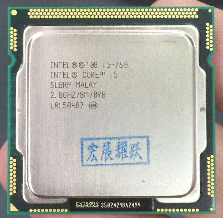 Prix pour Intel core i5-760 processeur (8 m cache, 2.80 ghz) lga1156 cpu de bureau 100% de travail correctement de bureau processeur