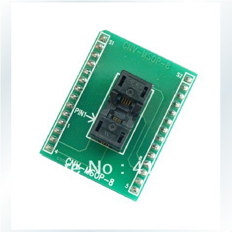Import CNV-MSOP-8 test socket adapter convert burn MSOP8 to DIP8 original plcc44 to dip40 block adapter block cnv plcc mpu51 test convert burn