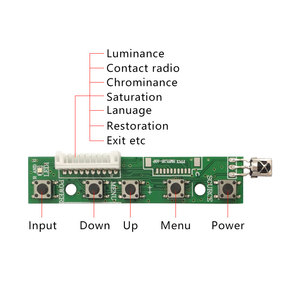 Image 5 - LCD TTL LVDS Controller Board  VGA 2AV 50PIN for AT070TN90 92 94 Support Automatically VS TY2662 V1 Driver Board