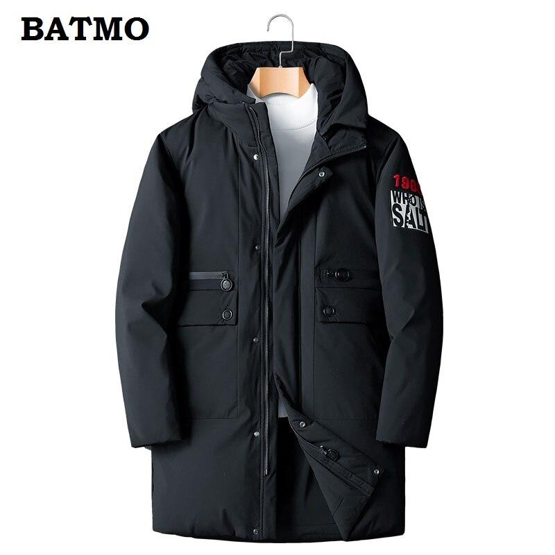 BATMO 2018 nouveauté hiver haute qualité 90% duvet de canard blanc vestes à capuche hommes, parkas à capuche chauds hommes taille L-8XL MY163