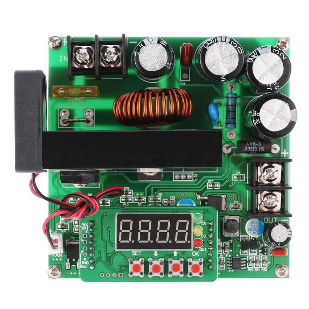 цена на 900W DC-DC Digital Boost Module LED Display Digital Step up-down Module Boost Buck Converter Adjustable Boost Module