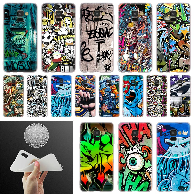 us 1 79 40 off graffiti wallpaper phone case for samsung galaxy a10 a20 a30 a40 a50 a60 a70 a6 a8 plus a7 a9 2018 a3 a5 2017 soft cover coque in