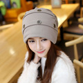 New 2016 Winter Hats for Women Men Plain Beanies Knitted Ski Cap Crochet Wholesale Adult Casual Hat for Chemo Turban Hat L18