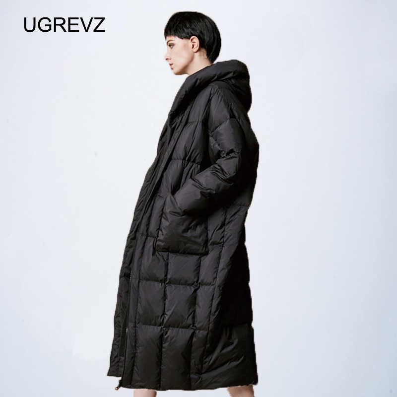 Женское Свободное длинное пальто, зимняя теплая куртка, Женское пальто размера плюс, зимняя женская куртка 2019, новая стеганая парка с капюшоном