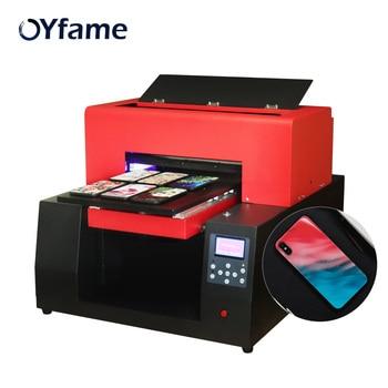 OYfame Automatic A3 UV Flatbed Printer  Phone Case Glass Acrylic Cylinder Bottle Golf  UV Printing Machine  R1390 UV Printer