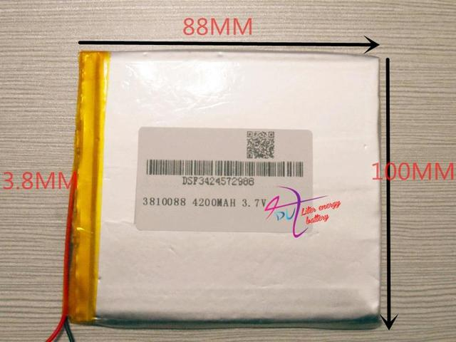 1PCS  3.7V 4200mah 3810088 Lithium polymer Tablet Battery with protection board For Tablet PC Di