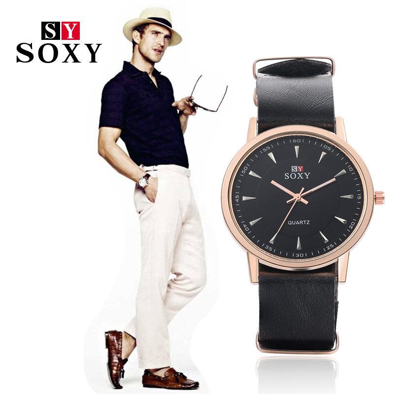 creative vintage men's watch relojes hombre Quartz Watch men Casual - Men's Watches