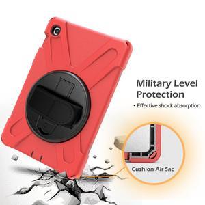 Image 3 - מקרה עבור Samsung Galaxy Tab S5E 10.5 SM T720 SM T725 2019 360 כבד החובה יד רצועת כתף רצועת ילדים מוקשח מגן כיסוי