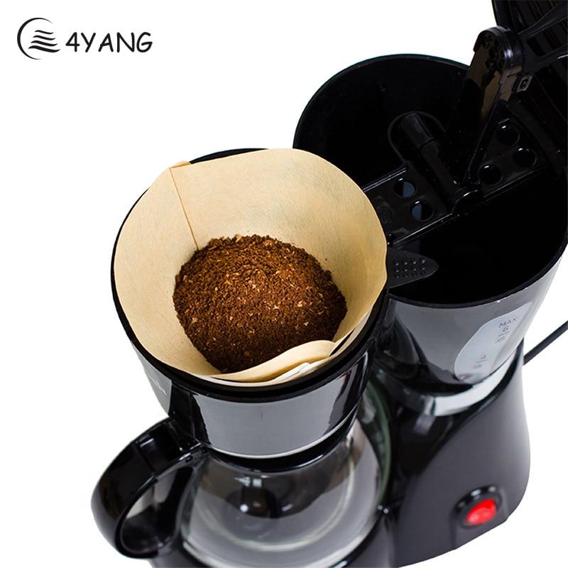 4YANG 100Pcs/Bag Original Wooden Coffee Filter <font><b>Paper</b></font> Cones <font><b>Cups</b></font> Hand Drip Coffee Filter <font><b>Packs</b></font> Tea Bag Strainer <font><b>Green</b></font> Tea Infuser