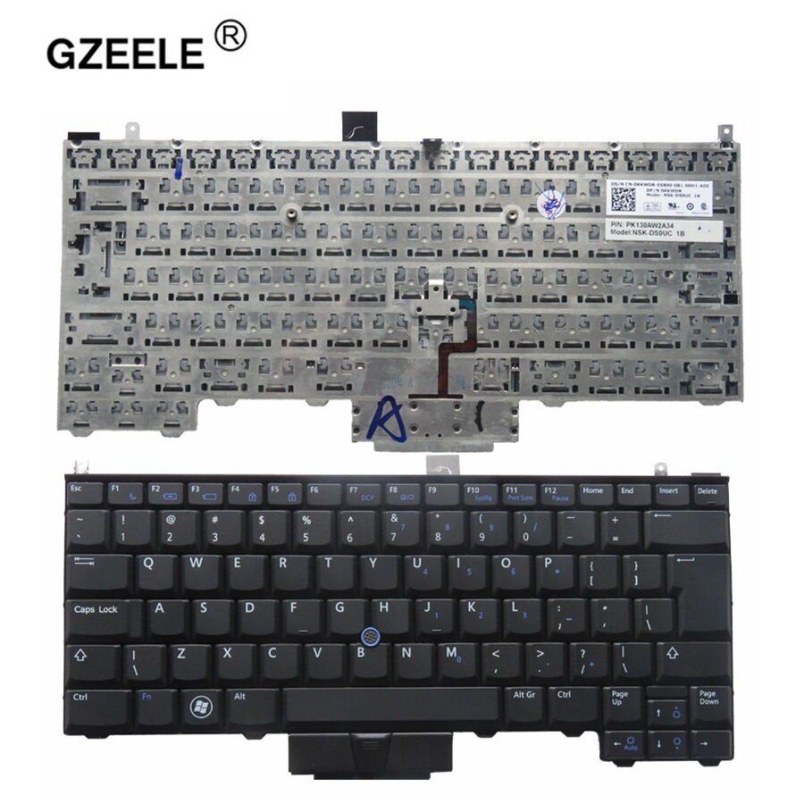 GZEELE New English keyboard For DELL Latitude E4310 BLACK (With Point stick) laptop keyboard UI no backlight цена