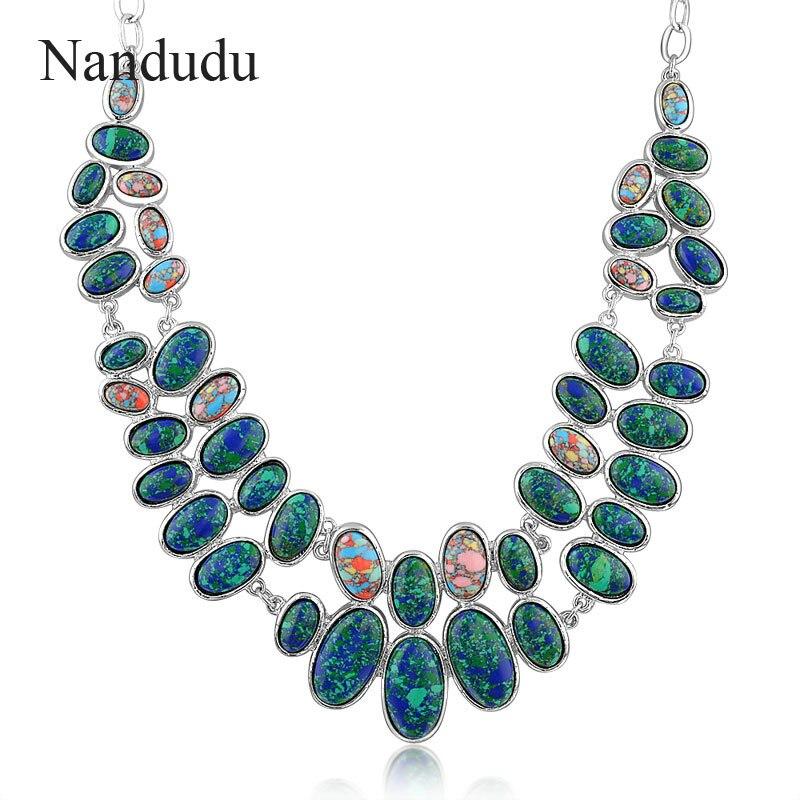Nandudu Elegant Statement Bib Choker Necklace Lady Party Bubble Necklaces Jewelry Gift N301 retro geometric bubble resin statement choker necklace vintage jewelry