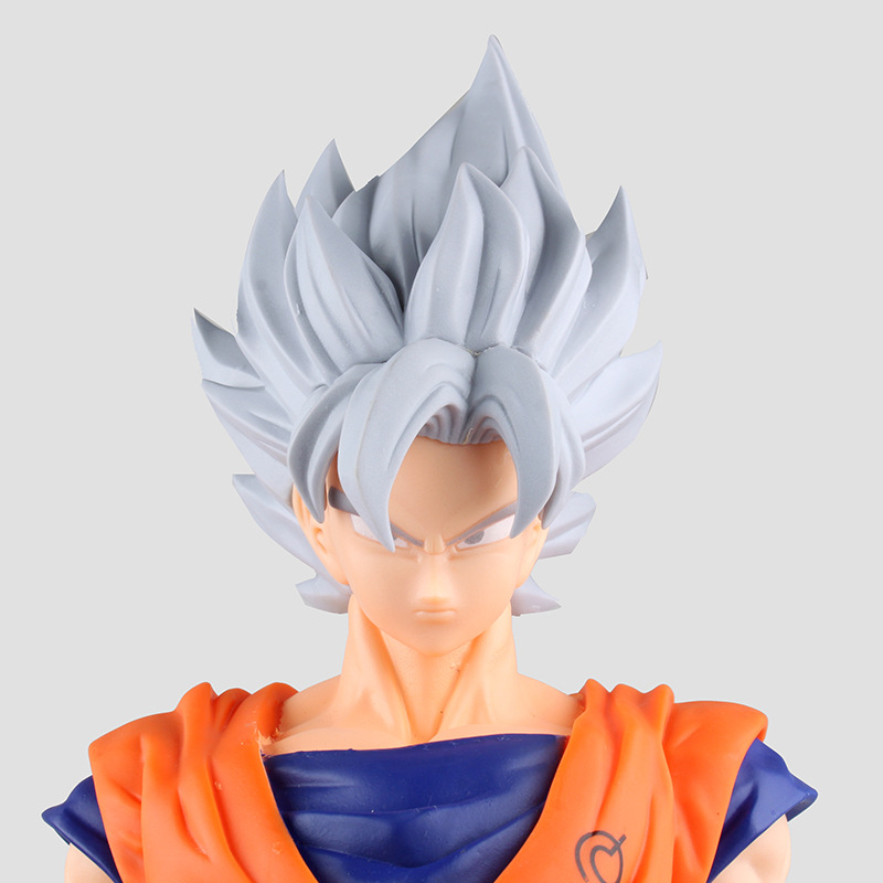 Ninth Edition! Gray Hair! Super Saiyan Son Goku Action Figure Japan Cartoon Dragon Ball Size Toy Best Present BDFG6088