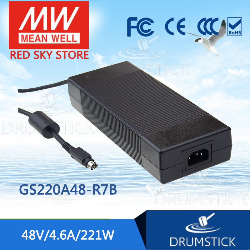 Advantages MEAN WELL GS220A48-R7B 48V 4.6A meanwell GS220A 48V 221W AC-DC Industrial Adaptor