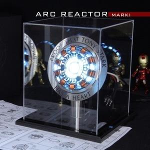 Image 1 - Avenger 1:1 Iron Man Arc Reactor Action Figure MK1 Ironman Reactor Tony Stark Arc Reactor DIY Parts Model Toys With LED Light