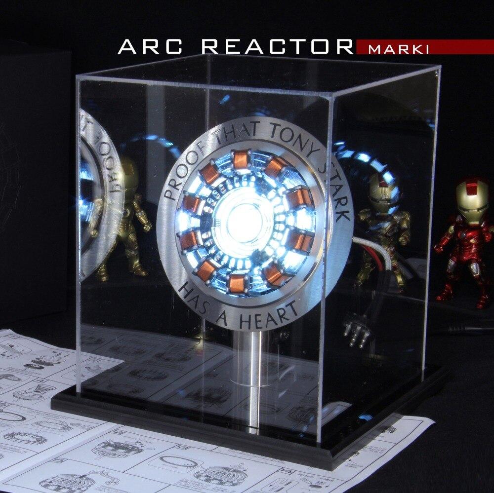 Avengers 1:1 Iron Man Arc Reaktor Action Figure MK1 Ironman Reaktor Tony stark Arc Reaktor DIY Teile Modell Spielzeug Mit LED Licht