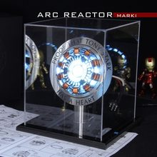 Avenger 1:1 Iron Man Reaktor Busur Action Figure MK1 Ironman Reactor Tony Stark Reaktor Busur DIY Parts Model Mainan dengan lampu LED(China)