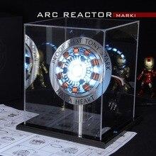Vingadores 1:1, homem de ferro, arco reator, figura de ação mk1, ironman, reator tony stark arc reator, diy, peças, modelo, brinquedos com luz de led