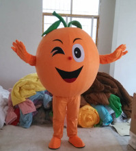 Orange Fruit Mascot Costume Suit Size Mascot Costume Suit Fancy Dress Cartoon Character Party Outfit Suit high quality cute puppy dog mascot costume adult cartoon character mascotte mascota outfit suit
