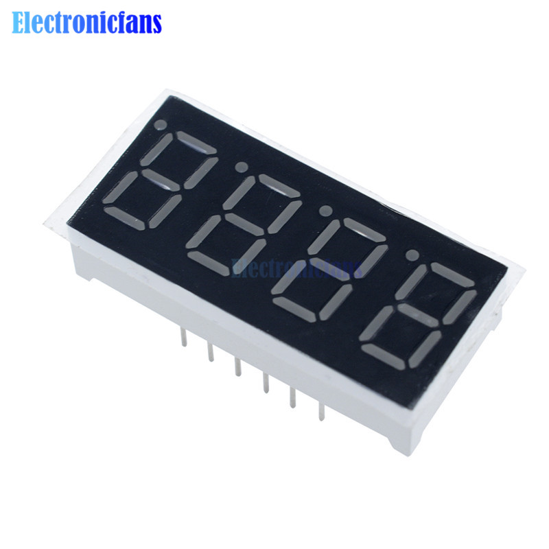 0.36 Inch 4bit 4 Bit Common Cathode Digital Tube Red Digit LED Digit Display 7 Seg Segment 0.36 Inch 0.36'' 0.56in. 4 Four Bit