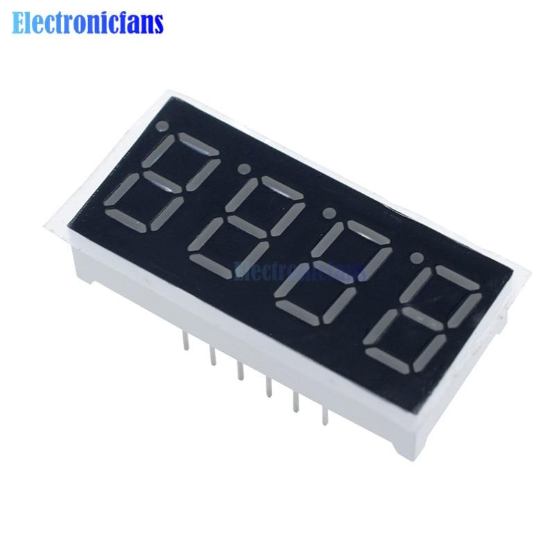 0.36 Inch 4bit 4 Bit Common Cathode Digital Tube Red Digit LED Digit Display 7 Seg Segment 0.36 Inch 0.36'' 0.56in. 4 Four Bit