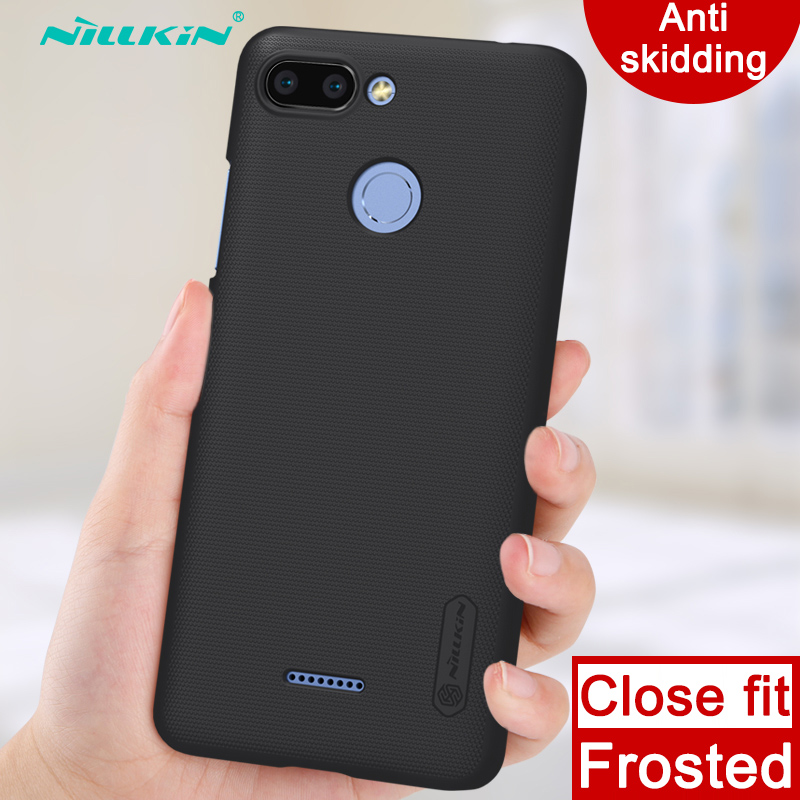 Case for Xiaomi Redmi 6 6A Nillkin Super Frosted Shield hard back cover case anti skidding case for Xiaomi Redmi 6 6A